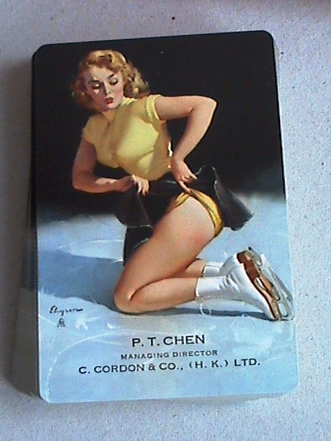 Vintage Elvgren Cuties Pin Up Playing Cards Brown
